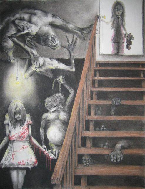Horrors do porão (x-post de / r / ArtworkoftheDay)