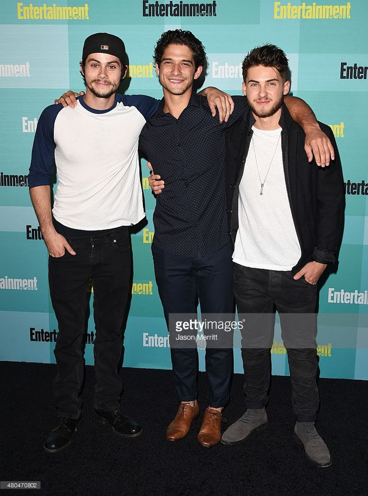 Actors Dylan O'Brien, Tyler Posey and Cody Christian attend Entertainment Weekly's Comic-Con 2015 Party sponsored by HBO, Honda, Bud Light Lime and Bud Light Ritas at FLOAT at The Hard Rock Hotel on July 11, 2015 in San Diego, California.