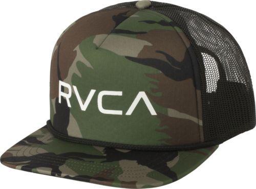 fdc3892ac10d6 NEW-RVCA-Foamy-Trucker-Hat-Camo-Snap-Back-Cap-Snapback