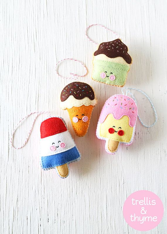 PDF Pattern - Ice Cream Shop Pattern Collection, Kawaii Fe