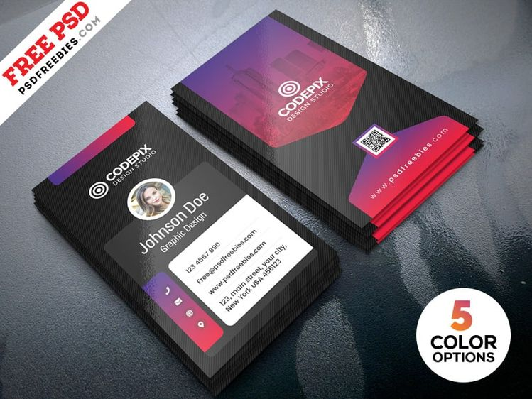 vertical free business card template