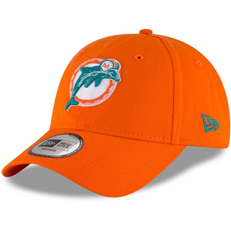 d84b373c606 Miami Dolphins New Era NE Core Fit Throwback 49FORTY Fitted Hat - Orange