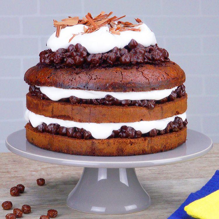 Torta crocante de chocolate com cereais