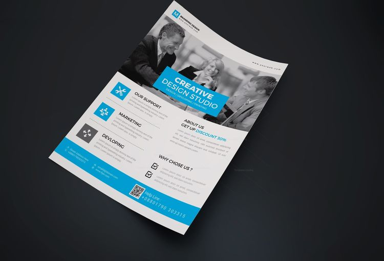 Granite Creative Corporate Flyer Design Template - Graphic Templates