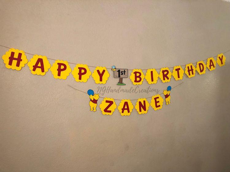 Winnie The Pooh Happy Birthday Banner
