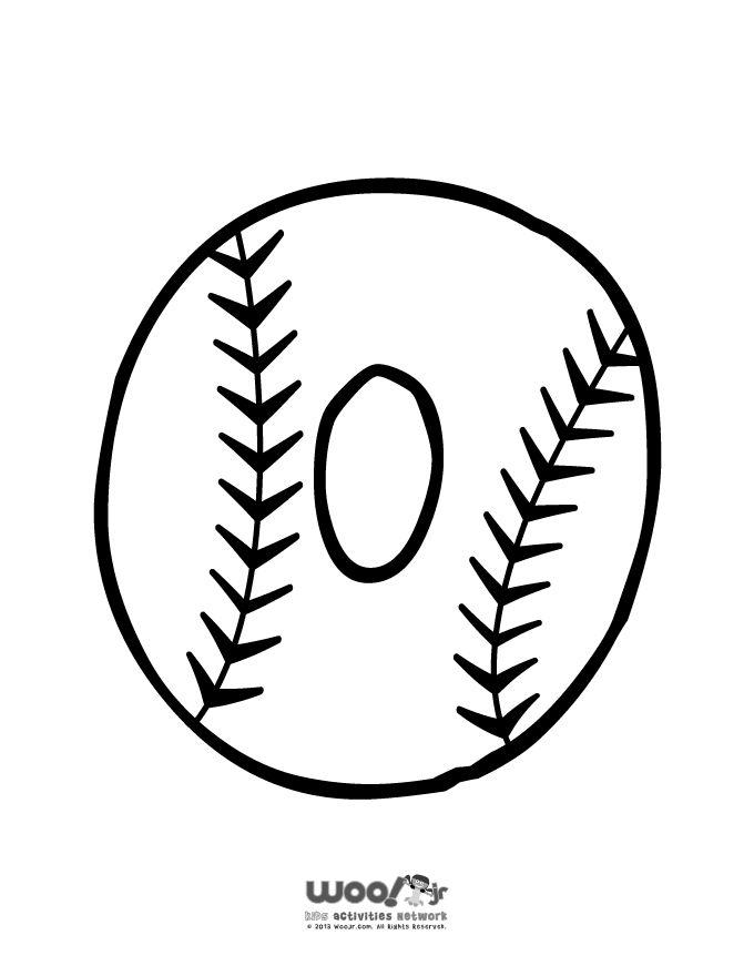 Baseball Alphabet Letter O