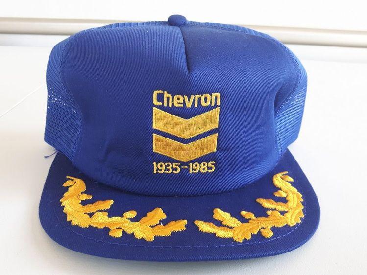 3a9e8f18cb3 Vintage Chevron Snapback K-brand 1935-1985 Blue Gold Mesh 80s Trucker Hat
