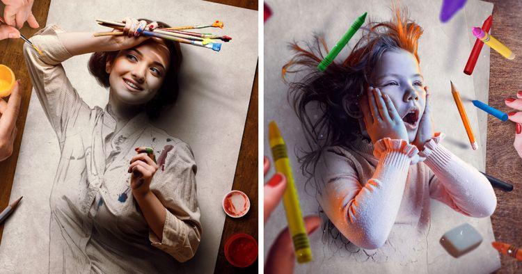 Artista brasileiro cria pinturas digitais que parecem querer na página