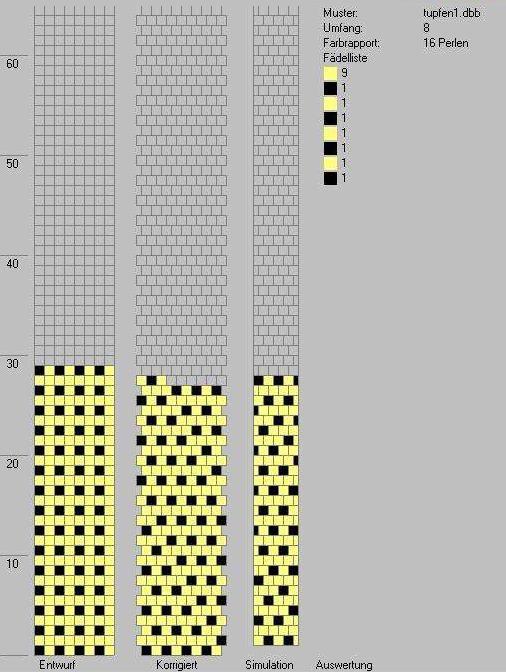 Schlauchketten Häkeln Musterbibliothek Tupfen1
