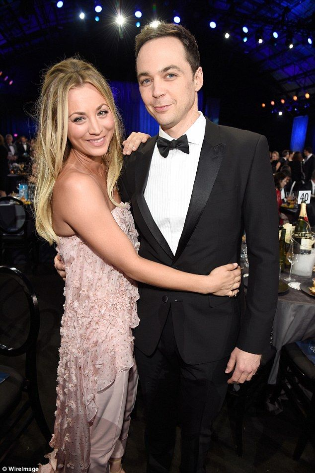 Work night out! She also joined her Big Bang co-star Jim Parsons, 43...