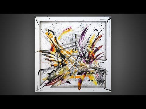 Demonstration der abstrakten Malerei | Lasione - YouTube