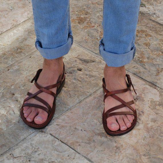 f47ec481508a Brown leather sandals Jerusalem sandals brown sandals Jesus sandals flat  sandals strappy sandals men sandals handmade sandals