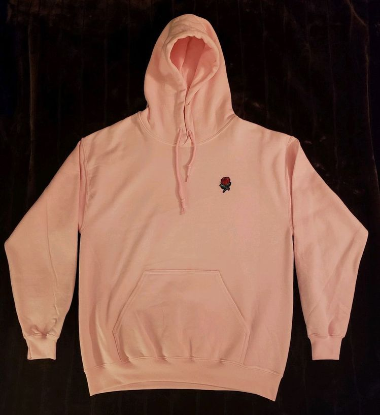 Artist Union Clothing Co Embroidered Rose Patch Hoodie Pin