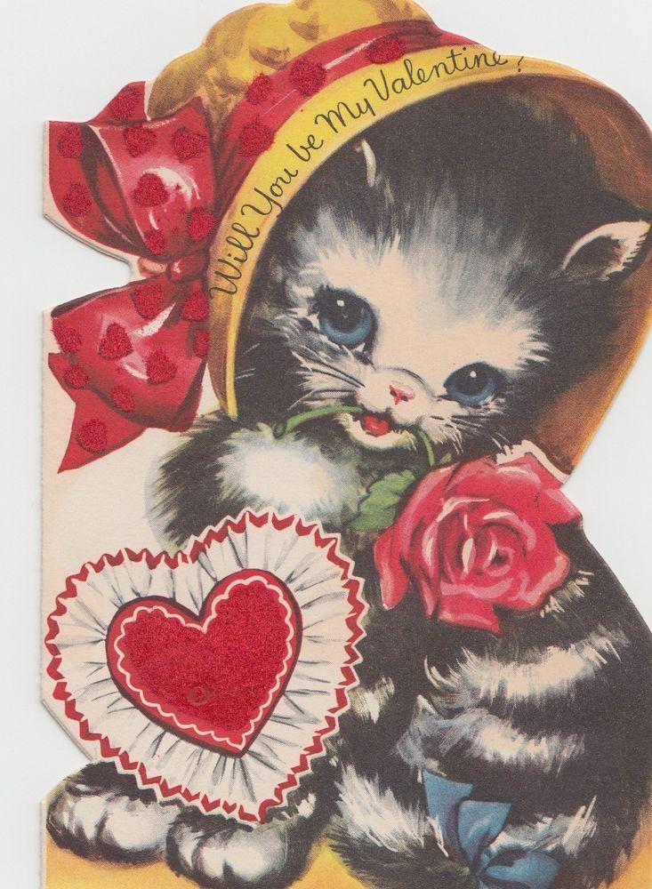 07e4213475e9 vintage Valentine kitten