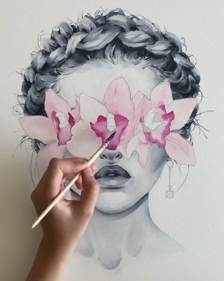 Pink orchid blindfolded by Polina Bright