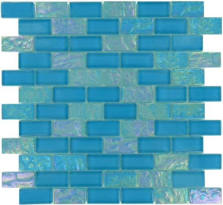 b5af86b9a0b1 ... Glass Glossy   Iridescent Tile. Ocean Pool Mosaic Splash Series