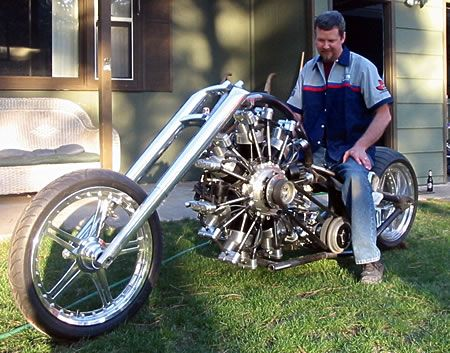 Radial Engined Motorcycle by JRL Cycles.