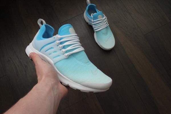size 40 3408d 2d68e Nike presto blue custom sneakers - ombre design