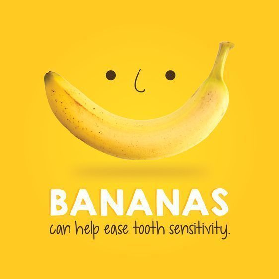 Dental Tip Of The Day: BANANAS are a great source of oxalic acids which helps ease tooth pain and sensitivity. #dentist #southsanfrancisco #oralhealth