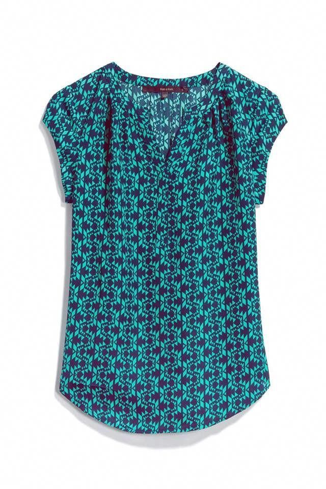 great print for white and I love blue/teals #womensfallfashionforworkpolkadots