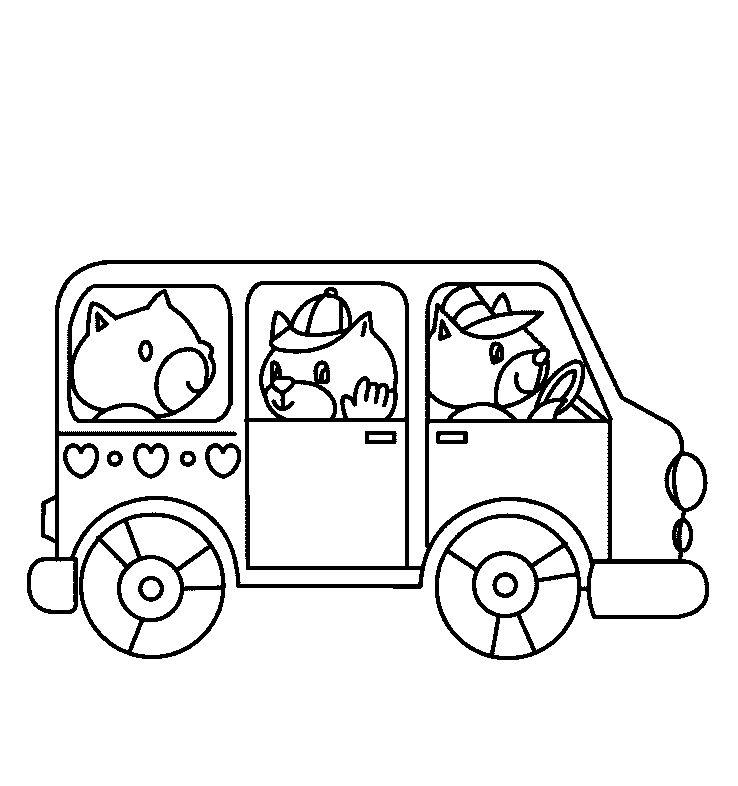 Otobüs Boyama Sayfası