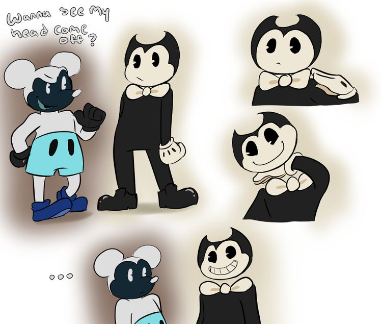 Bendy And Negative Mickey From Abandoned By Disney
