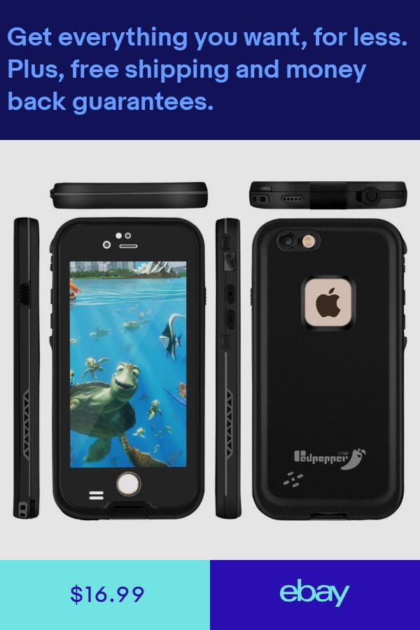 various colors 5f6eb 8cf63 For Apple iPhone 6 6S Plus Waterproof Case Cover Built-in S