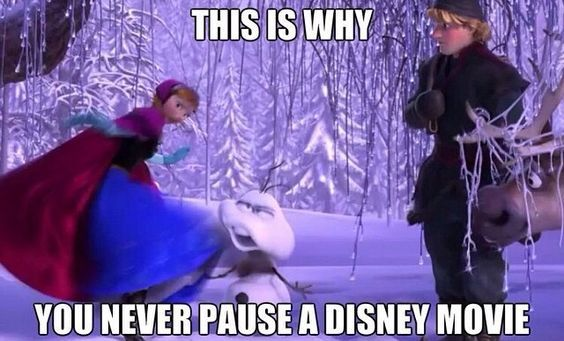 This is why you never pause a Disney movie. You get weird but funny results