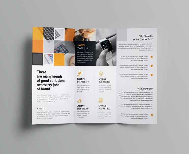 Angular Corporate Tri-Fold Brochure Template - Graphic Templates