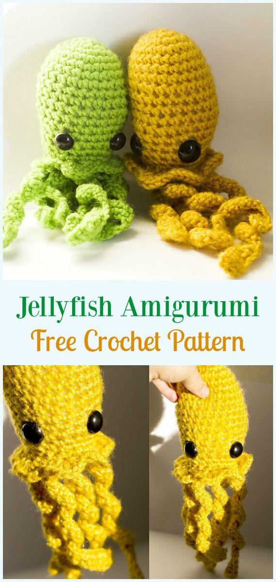 Jellyfish Amigurumi Crochet Free Pattern Amigurumi Je