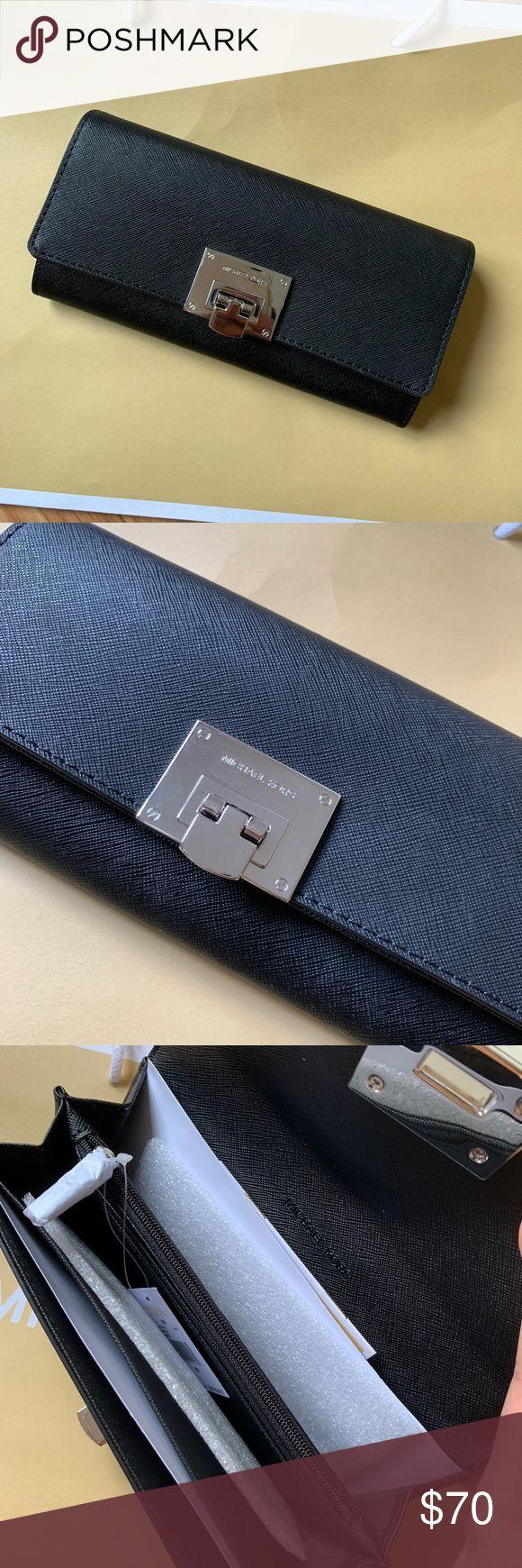 63f021fafd66 Michael Kors Tina Carryall Wallet Michael Kors Tina Carryall Continental  Saffiano Leather Clutch Wallet Msrp $178