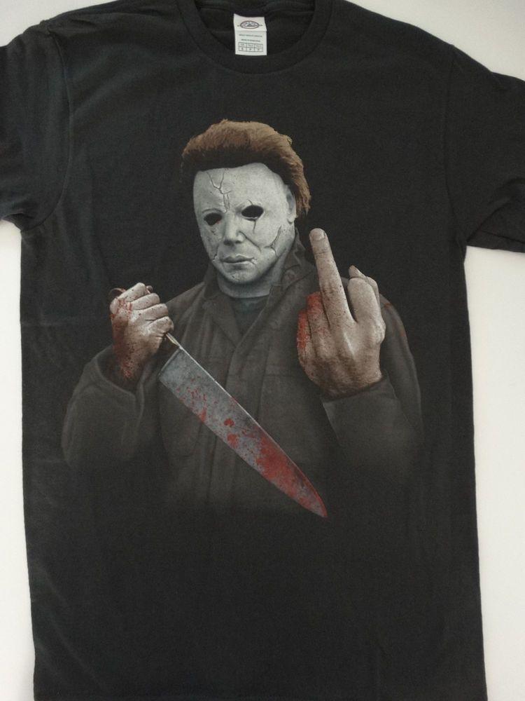 0cfa7f8eb Michael Myers Halloween Middle Finger Horror Movie T-Shirt #Halloween  #TShirt