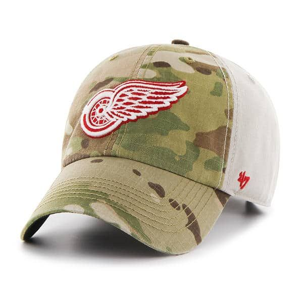 4d0cd0b1fcec8 Detroit Red Wings Camo Multicam Clean Up 47 Brand Adjustable Hat