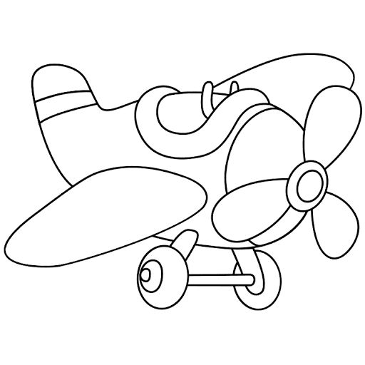 Mewarnai Gambar Pesawat Kuno