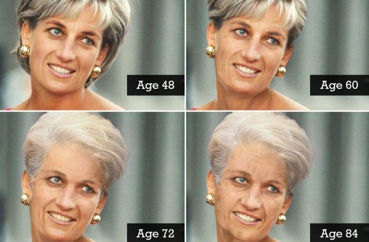 Prediksi wajah Putri Diana oleh desainer grafis/Aol.com