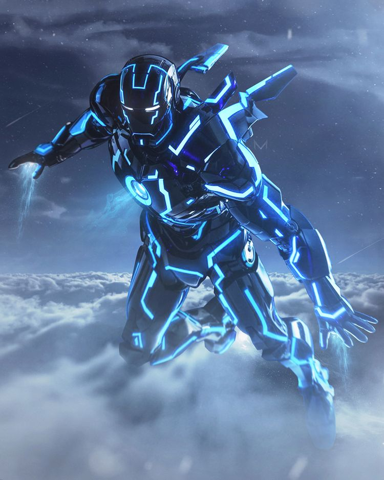 mizuriofficialNEON IRONMAN !-Hello everyone! This morning, I saw this dope edit of this Neon suit by @ajdesigns0220, so I had a shot at it too! This is Ironman in his TRON like suit, soaring through the night sky! Hope you guys like it, and the atmosphere I created in this piece !-Animated by the one and only @werbleapp #werble #werbleapp !-Feel free to follow me for more artworks and edits like this! @mizuriofficial