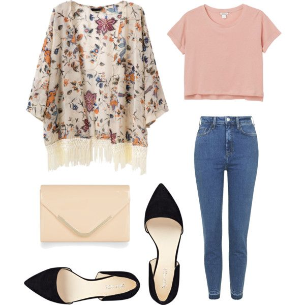 A fashion look from June 2015 featuring Monki t-shirts, Topshop jeans and Nine West flats. Browse and shop related looks.