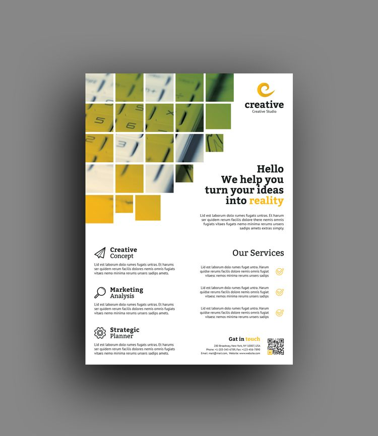 Vienna Stylish Professional Business Flyer Template - Graphic Templates