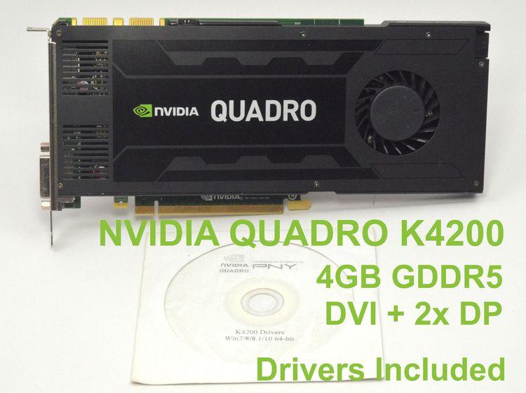 nvidia quadro k4200 4gb drivers
