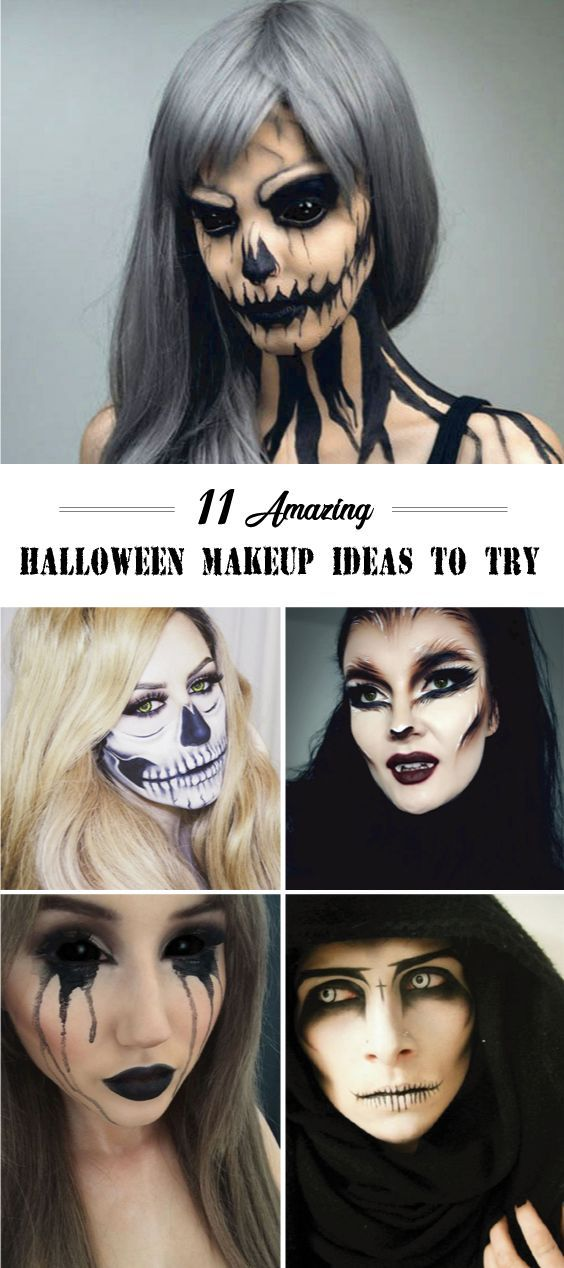 if you are looking for Halloween makeup ideas to make your face scary in the Hal...