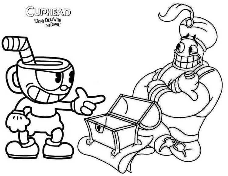 Cuphead Devil Coloring Pages - Coloring wall