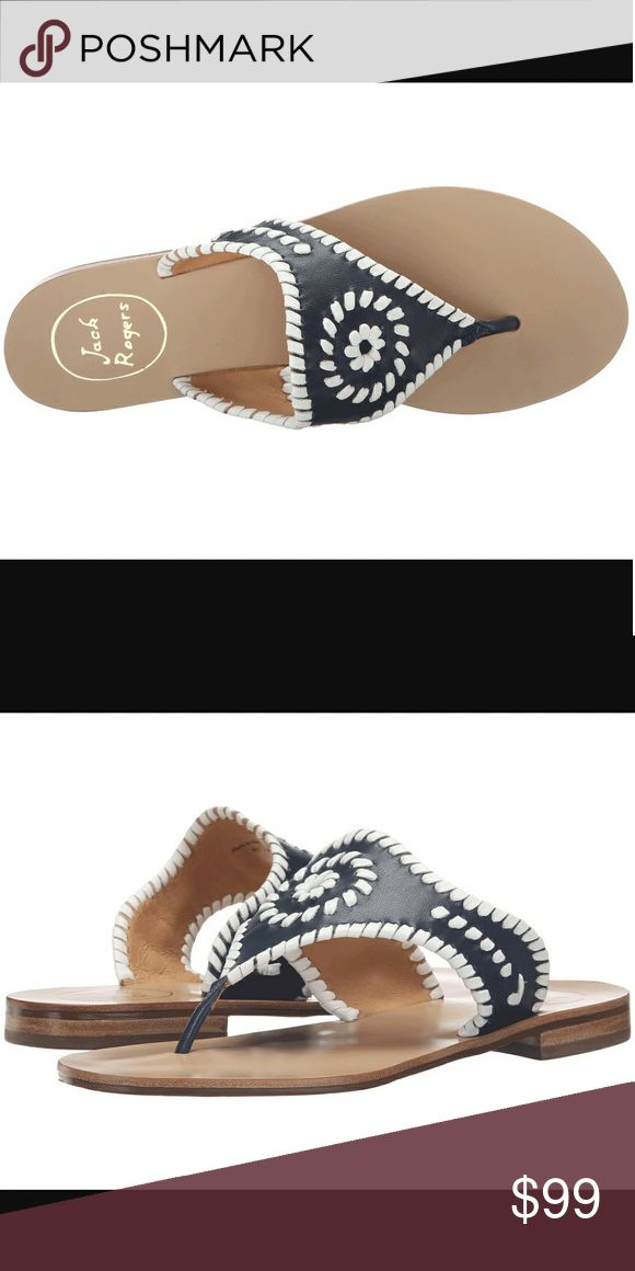 859a9cf4eb Jack Rogers Sandals Dressed up or down, these fashionable Jack Rogers navy  & white sandals