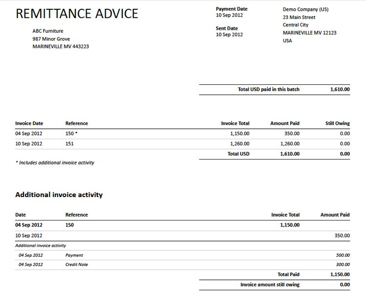 10 Free Remittance Advice Templates Word Excel Pdf Te