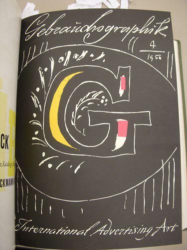 Gebrauchsgraphik 1950 04 Cover