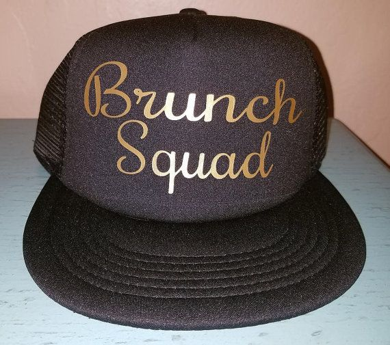 50fb3085 Brunch Squad Trucker Hat Snapback Custom Trucker Wedding Hat Squad Hat  Bachelorette party Hat Weddin
