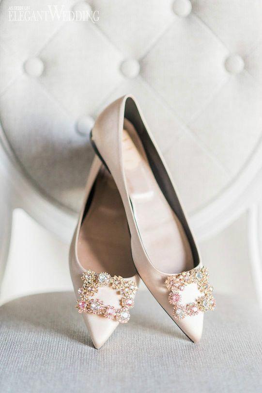 Sparkly Bridal Flats Pink Wedding Flat Shoes Roger Vivier Elegantwedding Ca Weddingflats Bridalflats