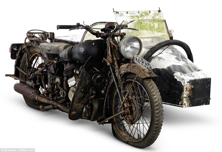 Pictured is a Brough Superior 982cc SS80 Project with a Petrol Tube Sidecar. Mr Vague, fro...