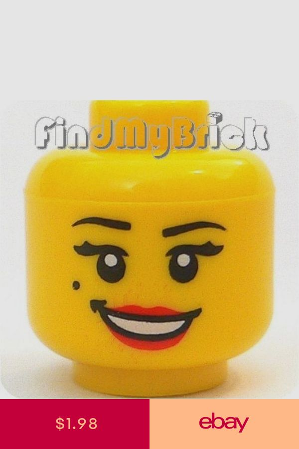 NEW Lego Pirate MINIFIG HEAD w//Black Beard /& Missing Tooth Smile Police//Castle