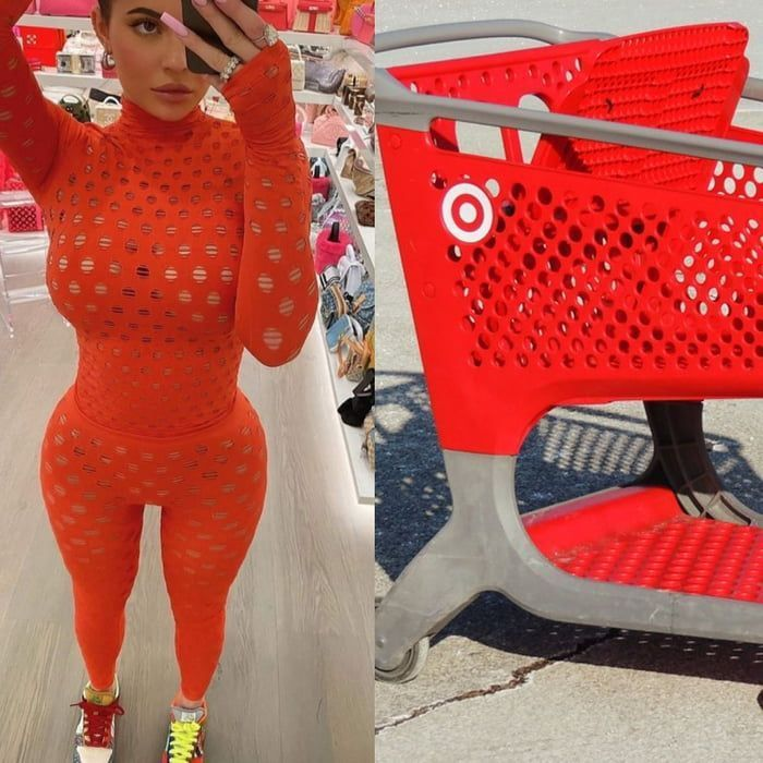 Who wore it better - Target trolley or her?