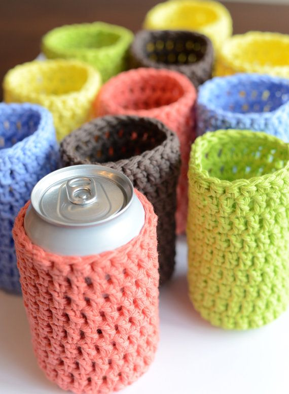 Crochet Can Cozy Soda Can Cover Beer Can Cover Beer